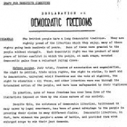 EC Sub-Committee to Prepare a Declaration on Democratic Rights, 1977-1979
