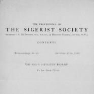 Sigerist Society