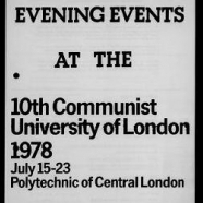 Communist University of London