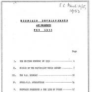 EC materials, 1953