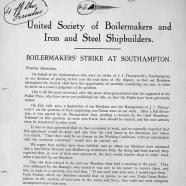 Southampton boilermakers strike