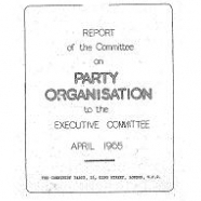 Committee on Party Organisation, 1964-1965