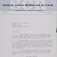 Papers regarding cultural relations with the USSR, film interests, and Jewish affairs