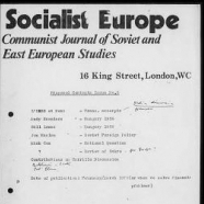Committee for the Study of the European Socialist Countries