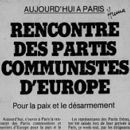 Materials on various European Communist parties conferences, 1976-1986