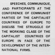 Materials on various international Communist conferences, 1962-1980