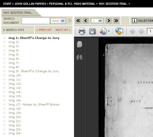 In this example two copies of the Sheriff's Charge to Jury have been preserved in the archive